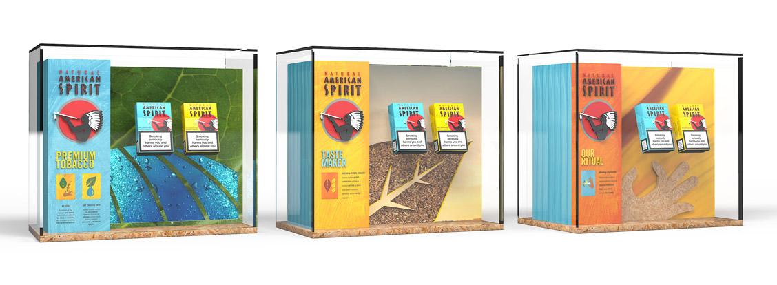 etche-fmcg-natural-american-spirit-instore-mini-vitrines