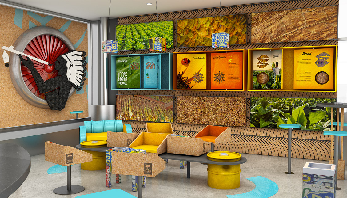 etche-agence de communication-fmcg-natural-american-spirit-instore-smoking-lounge-01