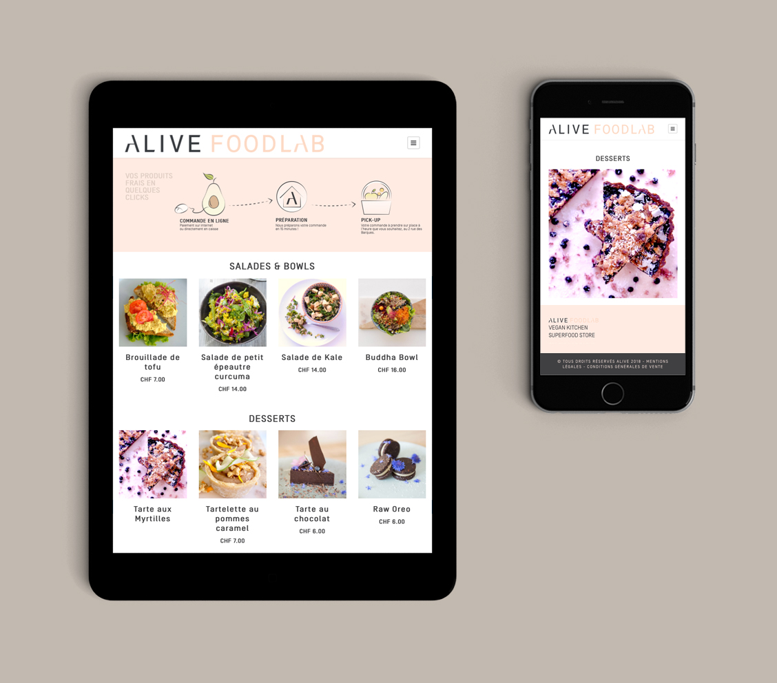 etche-agence web-web agency-food-alive-menu-woocommerce-site-internet-tablette